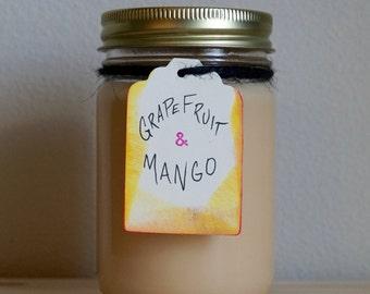 Grapefruit Mango 12oz Soy Candle