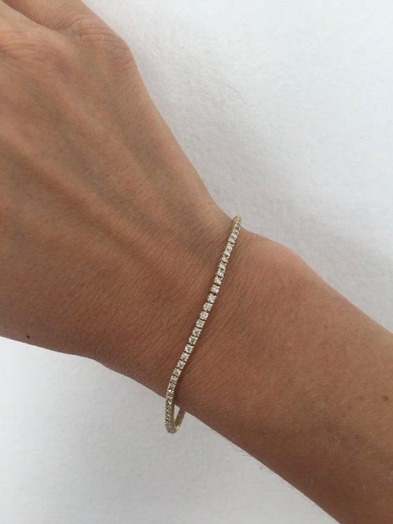 Items Similar To Diamond Tennis Bracelet Tennis Bracelet