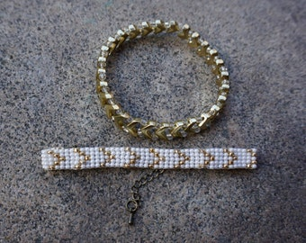 Gold Accented Layered Bracelets
