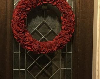 Red Ruffle Wreath