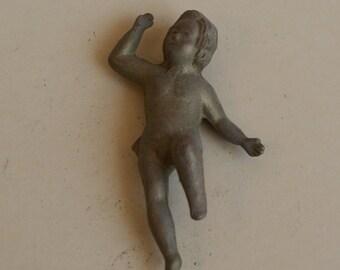 Cherub Brass Raw To Create, Statue, For Chandelier, - MADE in ITALY -  virgin raw brass - Putto In Piedi Ottone Grezzo Per Lampadario