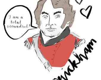 Bad Boys of Jane Austen - 'Prickham' greeting card