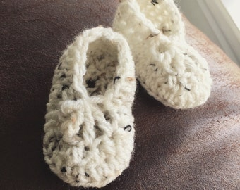 Handmade Organic yarn crochet Baby Booties/Slippers