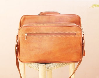 Made in Morocco : vintage leather bag