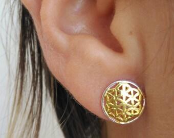 Shaped pendant flower of life.