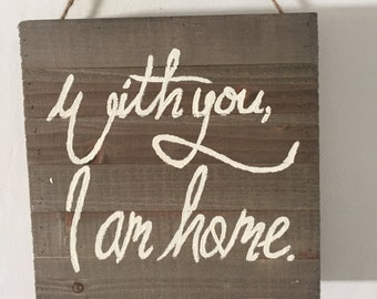 With You sign