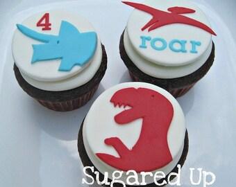 Dinosaur Fondant Cupcake Toppers