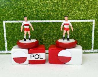 Poland Soccer Figurine / Miniature (Subbuteo) Magnet