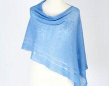 women knit linen poncho - nursing cover poncho - baby feeding cover - linen knit cover - oversized knitting gift for mom - baby shower gift