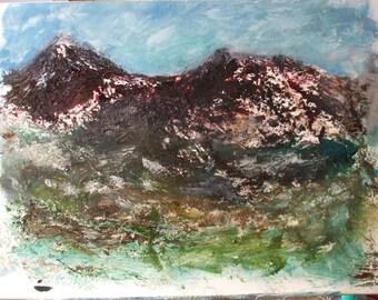 Original Oil paintings, Alas the Mountains