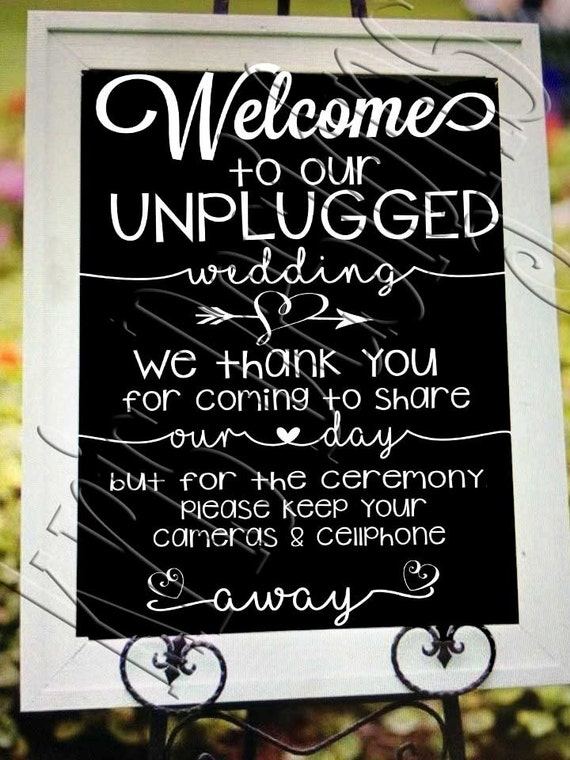 welcome to our unplugged wedding svg png jpg