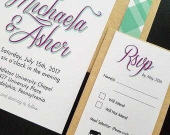 Retro vinyl record wedding invitation musical wedding invite for Etsy vinyl wedding invitations