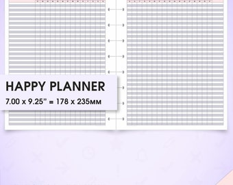 Monthly tracker printable happy planner inserts mo2p (habit tracker monthly chart, daily routine, routine chart, checklist chore chart, arc)