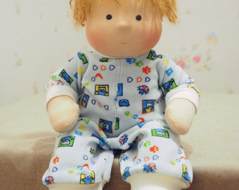Waldorf Inspired Baby Doll  with clothes 15'' inches 40 cm custom doll made to order SOLD