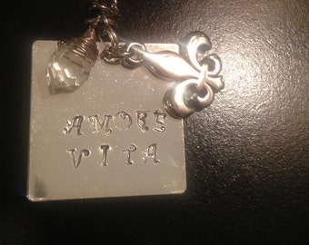 Fleur de Lis Necklace by Amore Vita Boutique