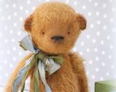 Cinnamon Teddy Bear-Artist Teddy Bear-Traditional Teddy Bear-Handcrafted Teddy Bear-Ginger Teddy Bear
