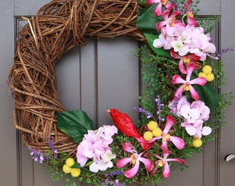 Artificial Floral Wreath, Easter Wreath, Wreath, Wedding Wreath, Spring Wreath, Wreath, Decor Wreath, Front Door Wreath,Funeral Wreath