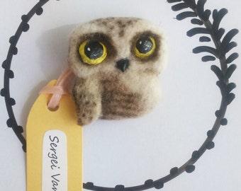 Handmade Brooch Owl