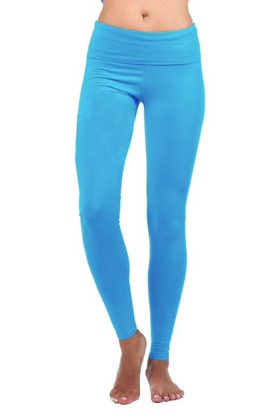 yoga pants women yoga leggings yoga clothes aqua blue