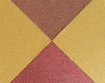 ConvoMuffler instant decor tile: colour plus bronze – peel n stick geometric eco wall art, soundproof, self-adhesive, insulation