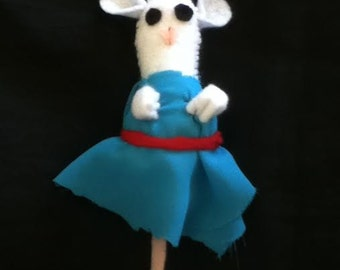 Mouse in Blue Dress