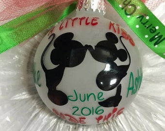 Disney Expecting Ornament, We're Expecting Christmas Ornament, Expecting Baby Ornament, Pregnant Ornament, Custom Christmas Ornament