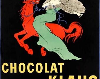 Chocolat Klaus Advertising Poster Print Art - Vintage Print Art - Home Decor - Chocolate Poster - Chocolate Art
