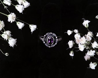 Alexandrite Sterling Silver Ring Size 6