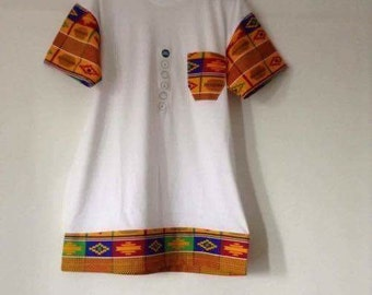 Kente t-shirt white 1or2