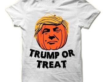 Donald Trump Or Treat Halloween T Shirt. Funny Halloween Gift. Trump Shirt.