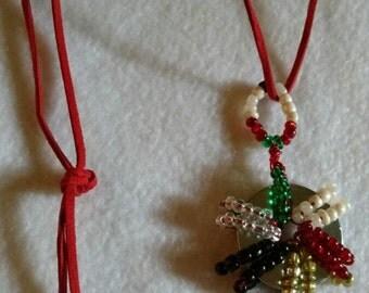 Luke Fon Fabre Beaded Washer Necklace