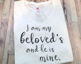 I am my Beloved's and He is mine - Religious Shirt - Adult Tank Top