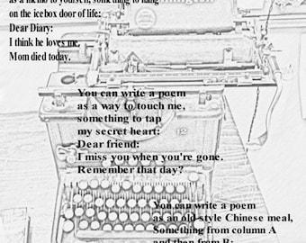 broadside: Write a Poem, by Lennart Lundh