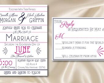 Modern Chic Wedding Invitation & RSVP (PRINTABLE)