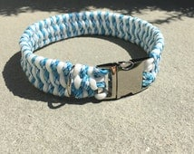Stripe Braid Paracord Dog Collar