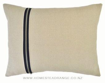 Cushions Beige Zipper
