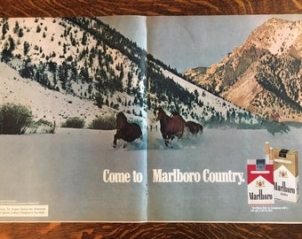 Lot of 2 Marlboro ads from 1972 LIFE magazines