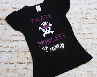 Pirate Princess Toddler Shirt - ECU - Purple and Gold