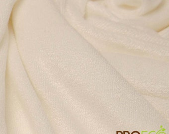 Pre-Activated ProECO® Bamboo Baby Loop Terry Silver Fabric with SILVADUR™ (Vintage White, sold by the yard)