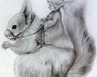 Impression illustration Dame Noisette