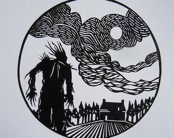 A Monster Calls, Illustration Inspired Papercut