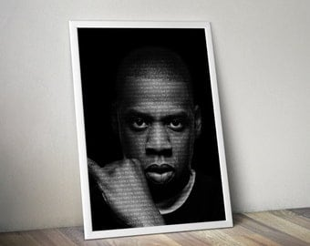 Jay z poster etsy jay z poster music song lyric typography word art print malvernweather Choice Image