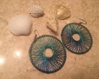 Metallic Ocean Earrings