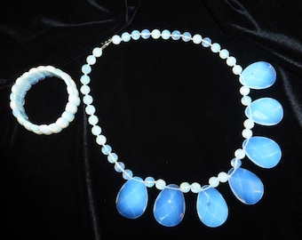 necklace and bracelet Moonstone