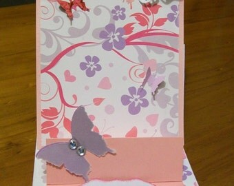 Springtime Butterflies Double Easel Card WG1