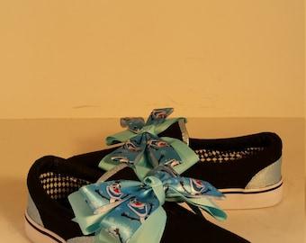 Size 3 Girls Black Frozen Sneakers