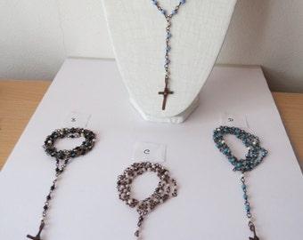Handmade Rosary necklace