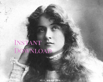 INSTANT DOWNLOAD Vintage Photo Actress Maude Fealy
