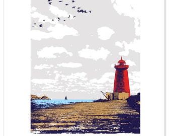 Dublin Bay 5 colour screen print
