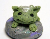 Tiny Micro Dragon Frog Mini Miniature Trollfling by Amber Matthies